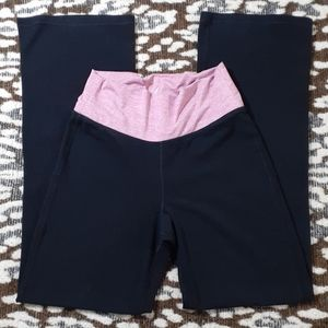 Old Navy Active Go-Dry Yoga Pants Cotton Pink/Blk
